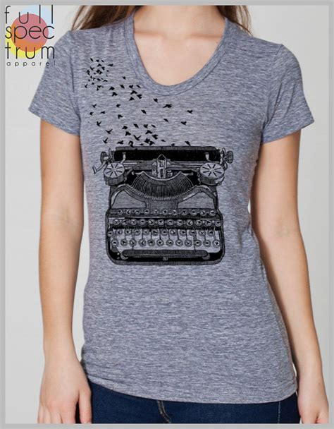 Tshirt 09 Xl From Ordinal Apparel vintage typewriter s t shirt with birds freedom of