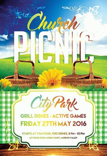 Church Picnic Flyer Psd Template By Elegantflyer Free Church Picnic Flyer Templates