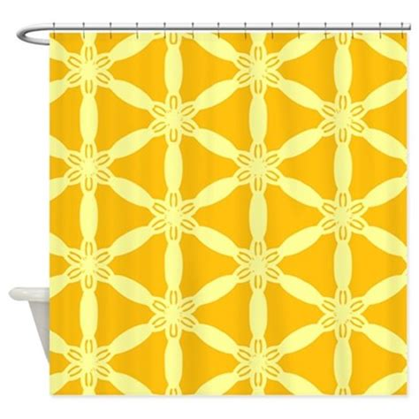 bright yellow shower curtain bright yellow decorative pattern shower curtain by admin