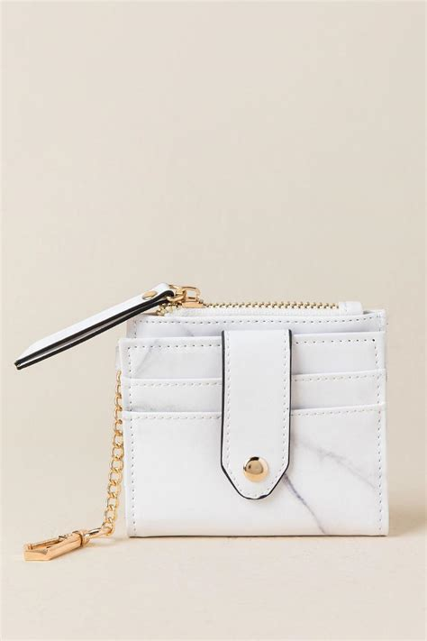 liliana marble card holder wallet s