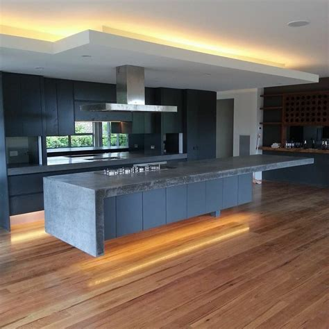 Display Homes With Polished Concrete Floors - 1000 images about kitchen bench tops on