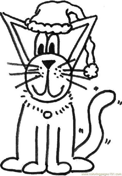 coloring pages christmas cats christmas cat coloring page free cat coloring pages