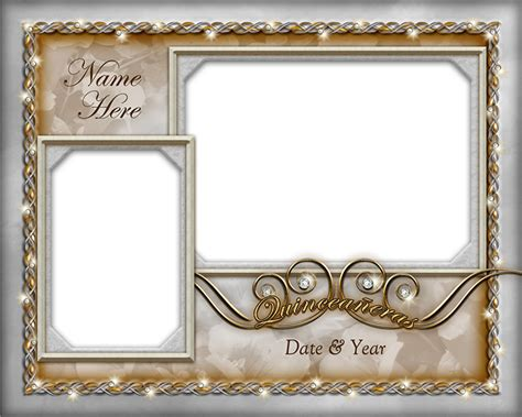 quinceaeras photo border templates