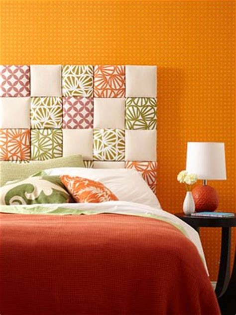 Patchwork Headboard - quilting on patchwork fabric headboard