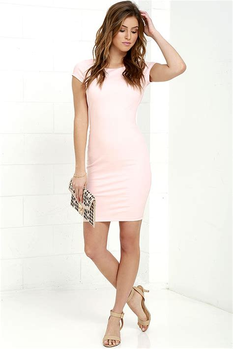 Daring Backless Dresses by Blush Pink Dress Backless Dress Bodycon Dress