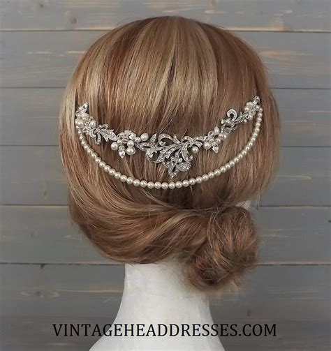 Vintage Wedding Hair Vines by Vintage Boho Bridal Hair Vine By Vintage Headdresses