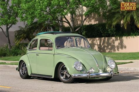 green volkswagen low green vw beetle bug with ragtop bug pinterest green