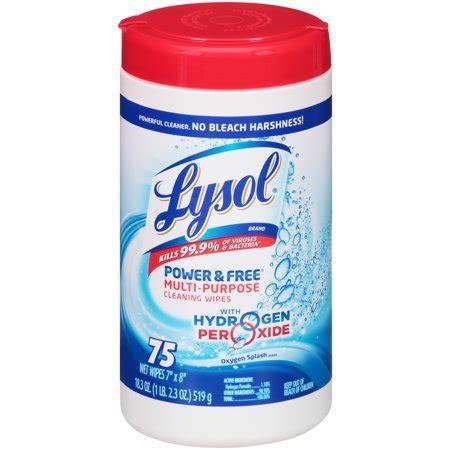 lysol bleach  hydrogen peroxide multi purpose cleaning wipes ct walmartcom