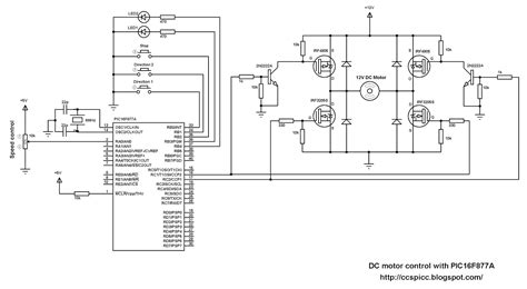 speed of a dc motor using pwm dc motor speed and direction with pic16f877a and h