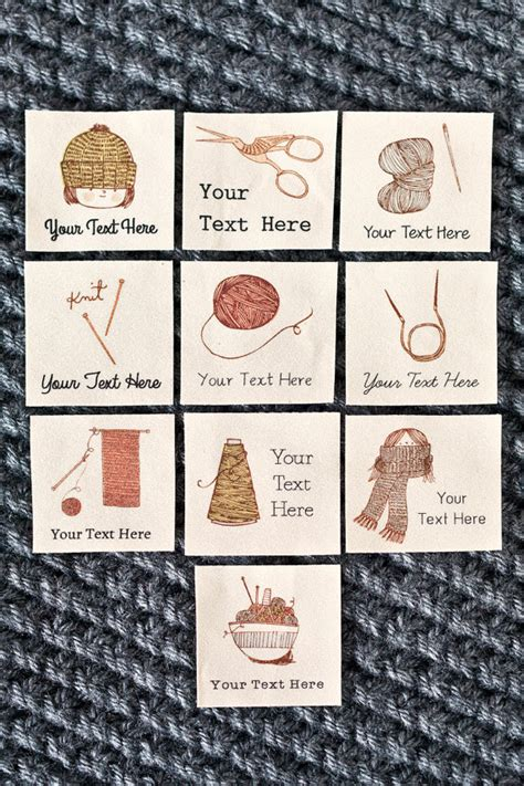 Knitting Labels Handmade - personalized knitting labels custom crochet gift or by