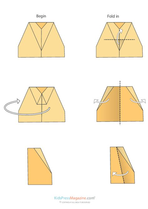 Medium Level Origami - paper airplane locked kidspressmagazine