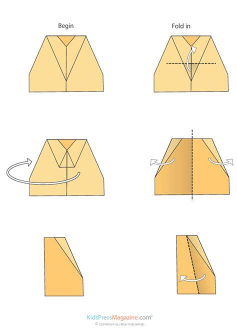 Medium Level Origami - paper airplane locked kidspressmagazine
