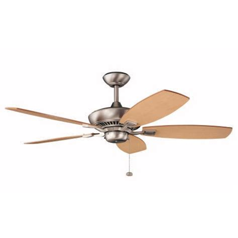 kichler ceiling fans kichler 52 inch pull chain ceiling fan with five blades
