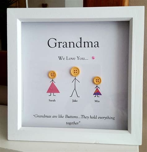 personalised wooden box frame for birthday s grandma gran