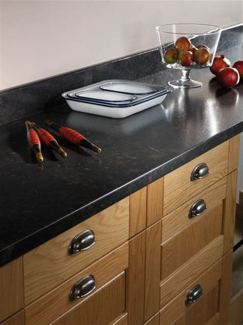 Painting Kitchen Countertops Black by Black Fossilstone Prima Formica Laminated Worktop