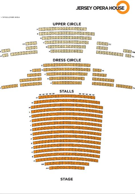 opera house studio seating plan jersey opera house