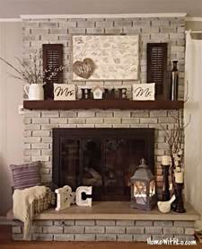 fireplace home decor 25 best ideas about brick fireplace decor on pinterest
