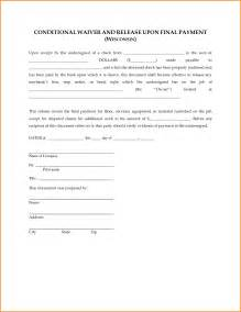 lien template doc 600730 lien waiver form sle lien waiver form 8