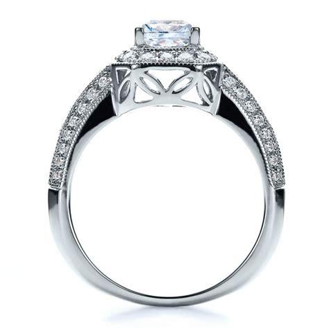 pave engagement ring vanna k 100061