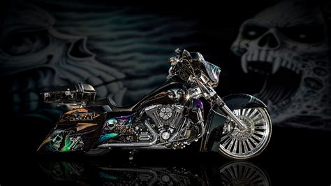 motorcycle backgrounds ghost design chopper hd bikes 4k wallpapers images