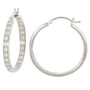 earring hoops cz and sterling silver inside out hoop earrings jewelry fashion