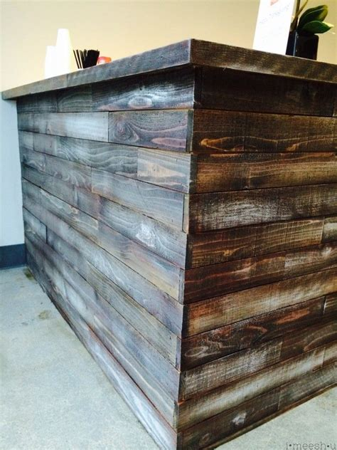 rustic wood stain colors stain and chalk paint to make a bar to look rustic and
