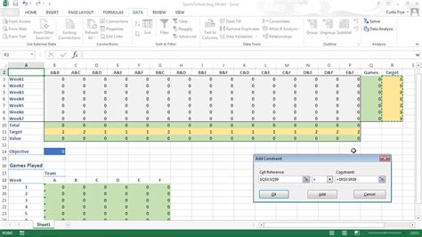 solving optimization and scheduling problems in excel