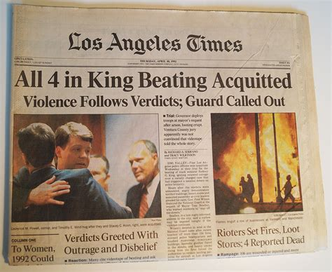 section 39 assault by beating sentencing 1992 rodney king police acquittal los angeles times