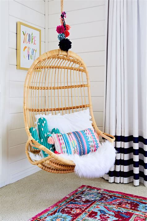 hanging chairs for kids bedrooms trendspotting hanging chairs are swinging into kids