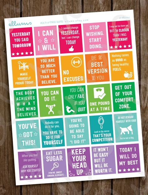 Workout Stickers