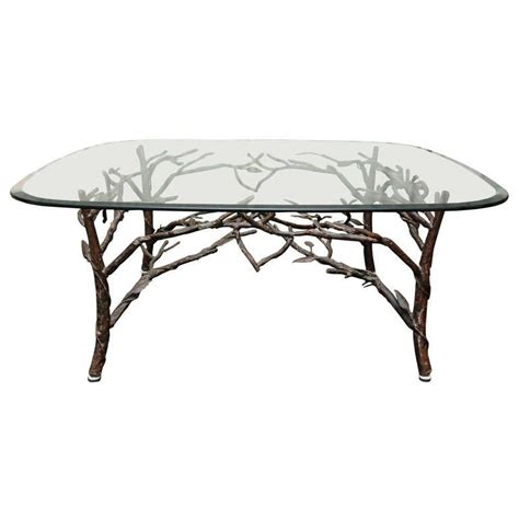 Tree Branch Coffee Table Glass Top Coffee Table With Tree Leg Base At 1stdibs