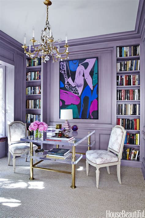 celebrity home interior violet fashion art room of the week 10 home office decor ideas