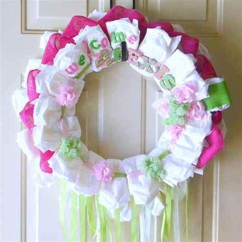 Baby Shower Wreath Tutorial by C Mon Get Crafty Wreath Tutorial