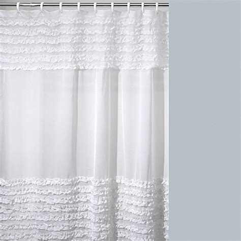 creative bath shower curtain creative bath ruffles shower curtain bed bath beyond
