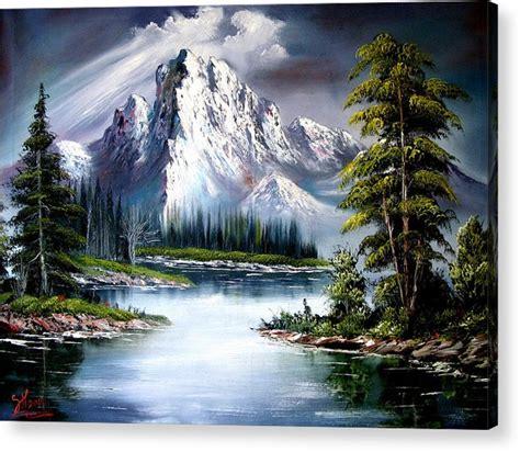 bob ross painting or acrylic sun after acrylic print by shirwan ahmed