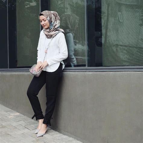 Baju Casual Untuk Muslimah dengan 6 model baju kerja casual muslimah ini til modis ke kantor ngga akan ribet muslim