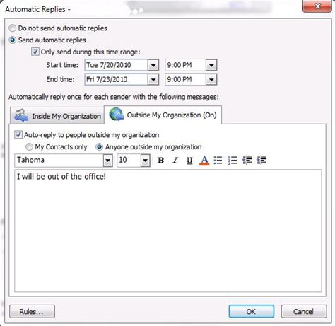 How To Turn Out Of Office In Outlook by Of Manitoba Information Services And