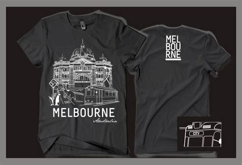 Hoodie Design Melbourne | souvenir t shirt for melbourne by gravisi melbourne