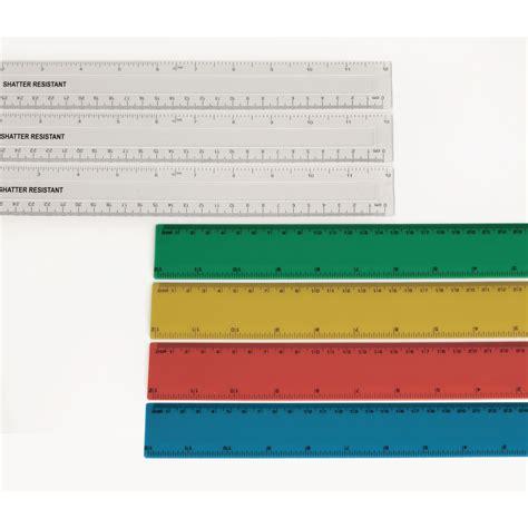 490132 green book classmates shatter resistant ruler transparent 30cm pack