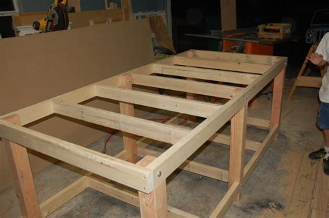 work bench legs woodwork workbench leg construction pdf plans