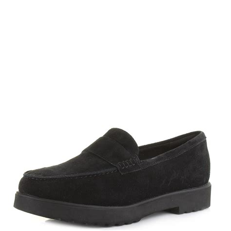 black suede loafers womens womens clarks bellevue hazen black suede leather loafers