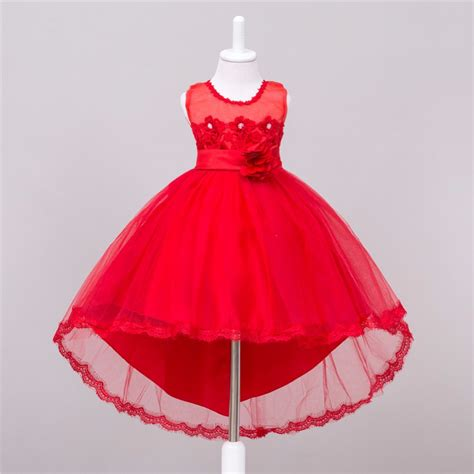 Cheap Apple Red Flower Girl Dresses   Wedding Dresses Asian