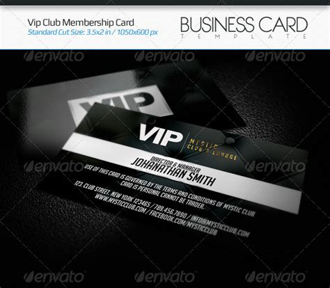 Vip Business Card Template by Vip Club Membership Card By Arphotography Graphicriver