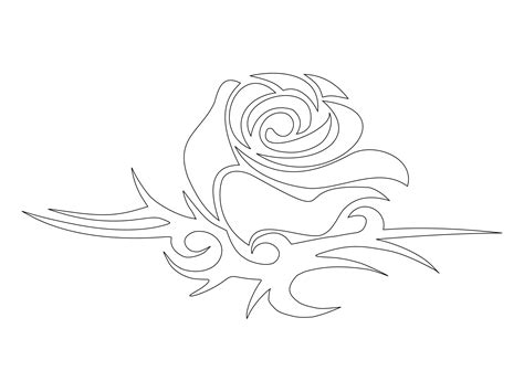 rose tattoo template simple stencil www imgkid the image