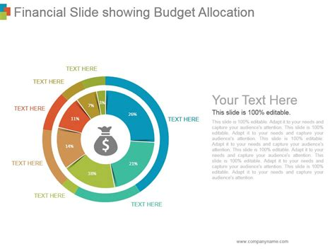 Financial Slide Showing Budget Allocation Ppt Background Powerpoint Slide Templates Download Powerpoint Budget Template