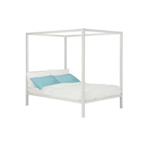 twin canopy bed frame new twin full queen size white metal canopy bed frame