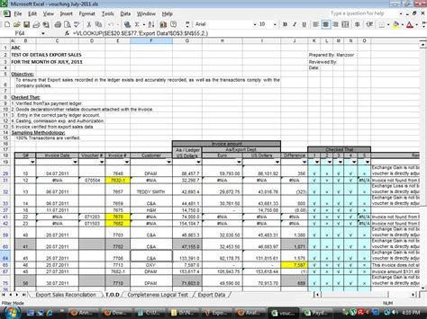 Download Free Internal Audit Working Papers Audit Audit Template Excel