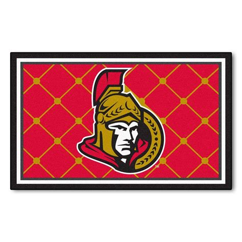 Fanmats Ottawa Senators 4 Ft X 6 Ft Area Rug 10430 The Area Rugs Ottawa