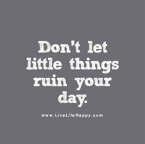 Things That Shouldnt Ruin Your Day by Don T Let Things Ruin Your Day