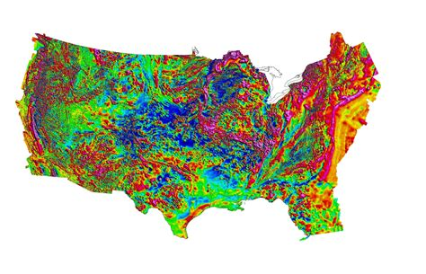 america magnetic anomaly map large usa map